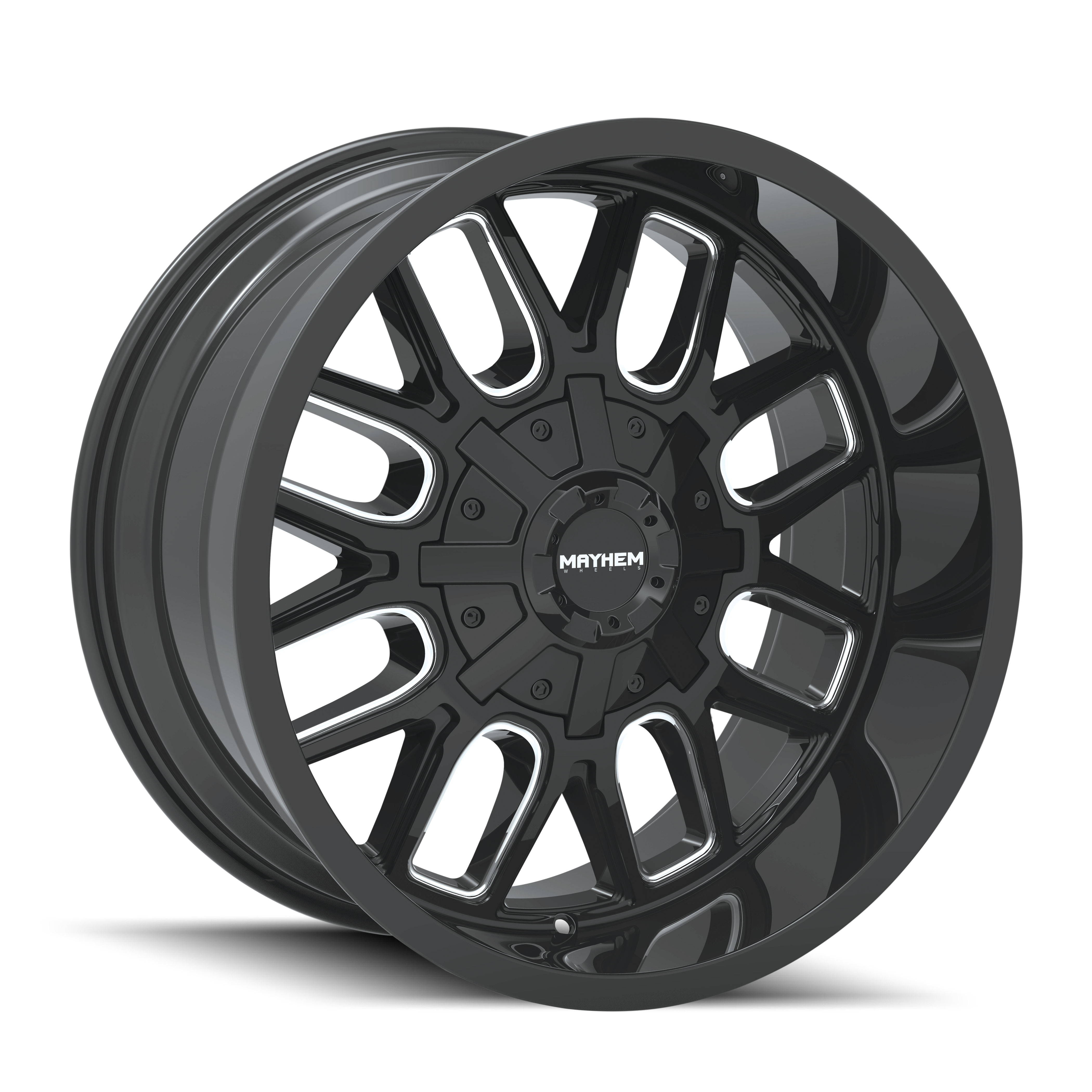 8107-2010-Gloss Black Milled Spokes 1