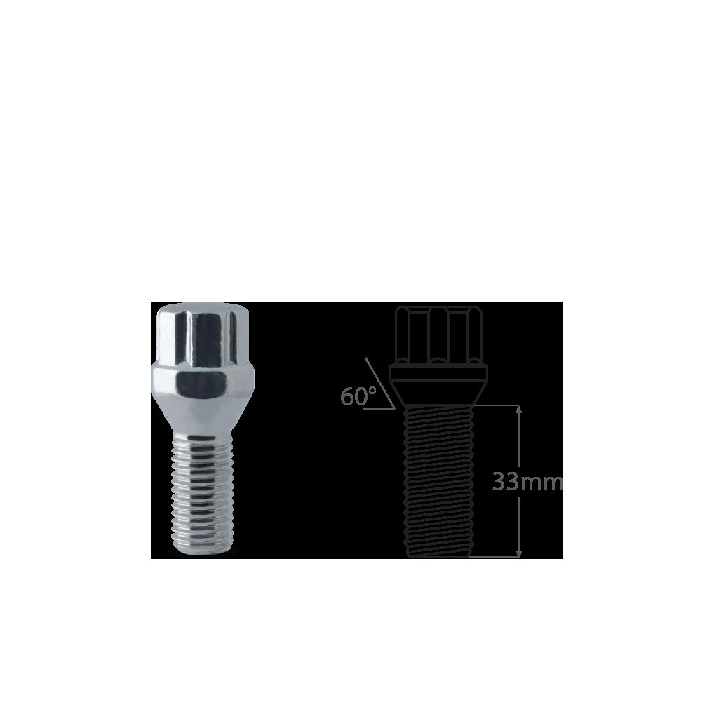 Spline_Bolt_Conical_Seat_Short_33mm